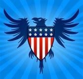 Fondo del blu di Eagle Fotografia Stock