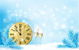 Fondo del blu di festa. Buon anno!. Fotografia Stock