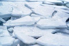 Fondo del blu di ghiaccio Fotografia Stock Libera da Diritti