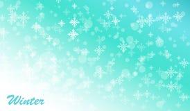 Fondo del blu di inverno Fotografia Stock