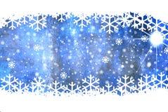Fondo del blu di Natale Immagine Stock Libera da Diritti