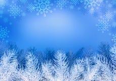 Fondo del blu di Natale. Fotografia Stock Libera da Diritti