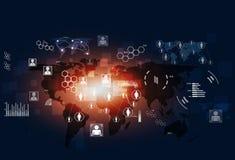Fondo del blu di Tecnology di comunicazioni di concetto Fotografia Stock Libera da Diritti