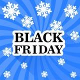 Fondo del blu di vendita di Black Friday Illustrazione di Stock