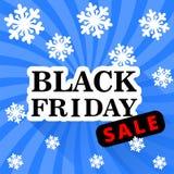 Fondo del blu di vendita di Black Friday Illustrazione Vettoriale