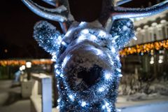 Fondo del blure de los ciervos del Año Nuevo Fotografía de archivo
