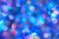 Fondo del bokeh colorido de la textura de la falta de definici?n por festival y A?o Nuevo Juego del color Contexto abstracto de l fotos de archivo libres de regalías
