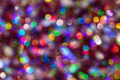 Fondo del bokeh colorido de la textura de la falta de definici?n por festival y A?o Nuevo Juego del color Contexto abstracto de l foto de archivo libre de regalías