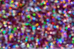 Fondo del bokeh colorido de la textura de la falta de definici?n por festival y A?o Nuevo Juego del color Contexto abstracto de l fotografía de archivo libre de regalías