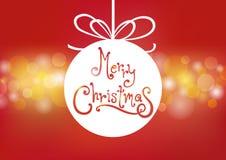 Fondo del bokeh de la bola de la Feliz Navidad Fotografía de archivo libre de regalías