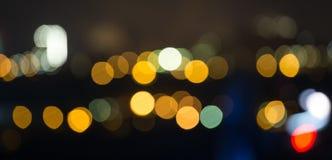 Fondo del bokeh de la ciudad de la noche Fotografía de archivo libre de regalías