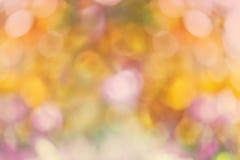 Fondo del bokeh de la naturaleza del otoño Imagen de archivo libre de regalías