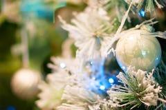 Fondo del bokeh de la Navidad Fotografía de archivo libre de regalías