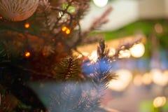 Fondo del bokeh de la Navidad Fotos de archivo libres de regalías
