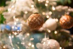 Fondo del bokeh de la Navidad Fotos de archivo
