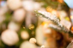 Fondo del bokeh de la Navidad Fotografía de archivo