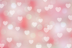 Fondo del bokeh de la tarjeta del día de San Valentín Foto de archivo libre de regalías