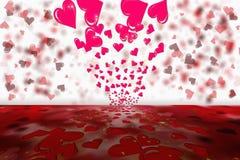 Fondo del bokeh de la tarjeta del día de San Valentín Imagen de archivo libre de regalías