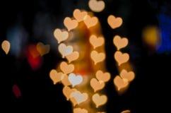 Fondo del bokeh de los corazones fotografía de archivo libre de regalías