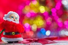 Fondo del bokeh de Santa Christmas Imágenes de archivo libres de regalías