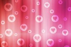 Fondo del bokeh del biglietto di S. Valentino Immagini Stock
