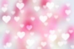 Fondo del bokeh del biglietto di S. Valentino Fotografie Stock Libere da Diritti