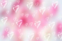 Fondo del bokeh del biglietto di S. Valentino Fotografia Stock