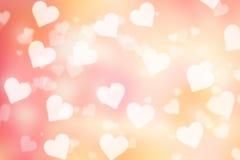 Fondo del bokeh del biglietto di S. Valentino Fotografie Stock