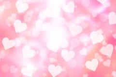 Fondo del bokeh del biglietto di S. Valentino Fotografia Stock Libera da Diritti