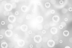 Fondo del bokeh del biglietto di S. Valentino Immagini Stock Libere da Diritti