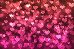 Fondo del bokeh del corazón Imagen de archivo
