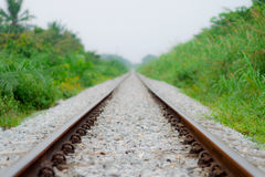 Fondo del bokeh del ferrocarril Imagen de archivo