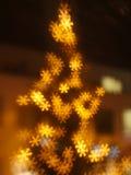 Fondo del bokeh del fiocco di neve di Natale Immagine Stock