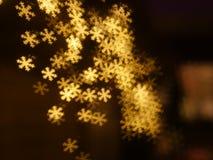 Fondo del bokeh del fiocco di neve di Natale Fotografia Stock