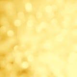 Fondo del bokeh del oro de la Navidad Tarjeta abstracta de lujo del día de fiesta fotos de archivo libres de regalías