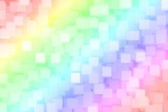 Fondo del bokeh del quadrato dell'arcobaleno vago estratto royalty illustrazione gratis