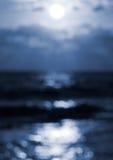 Fondo del bokeh di luce della luna Fotografie Stock