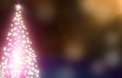Fondo del bokeh di Natale con l'albero di Natale illuminato illustrazione vettoriale