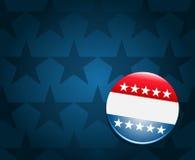 Fondo del botón de la campaña electoral de  Foto de archivo libre de regalías