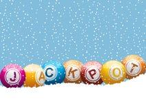 Fondo del bote de la lotería del bingo de la Navidad Fotos de archivo libres de regalías