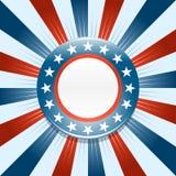Fondo del botón de la campaña electoral de  Imágenes de archivo libres de regalías