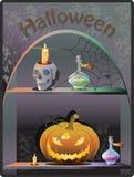 Fondo del boutique di Halloween Immagine Stock Libera da Diritti