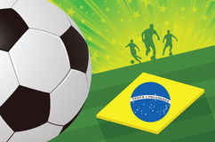 Fondo del Brasil del fútbol Fotos de archivo libres de regalías