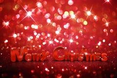 Fondo del brillo de la Navidad Foto de archivo