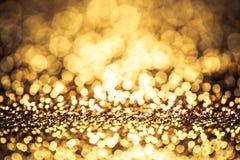Fondo del brillo del bokeh del color oro fotografía de archivo libre de regalías