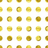 Fondo del brillo del confeti del oro Foto de archivo libre de regalías