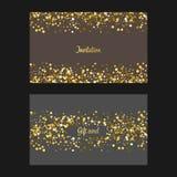 Fondo del brillo del oro Imagen de archivo libre de regalías