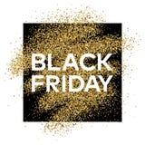 Fondo del brillo del oro con la inscripción de Black Friday Imágenes de archivo libres de regalías