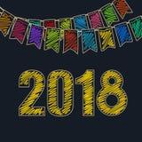 Fondo 2018 del buon anno Fotografia Stock