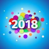 Fondo 2018 del buon anno Immagini Stock Libere da Diritti